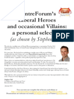 CentreForum's  Liberal Heroes  and occasional Villains