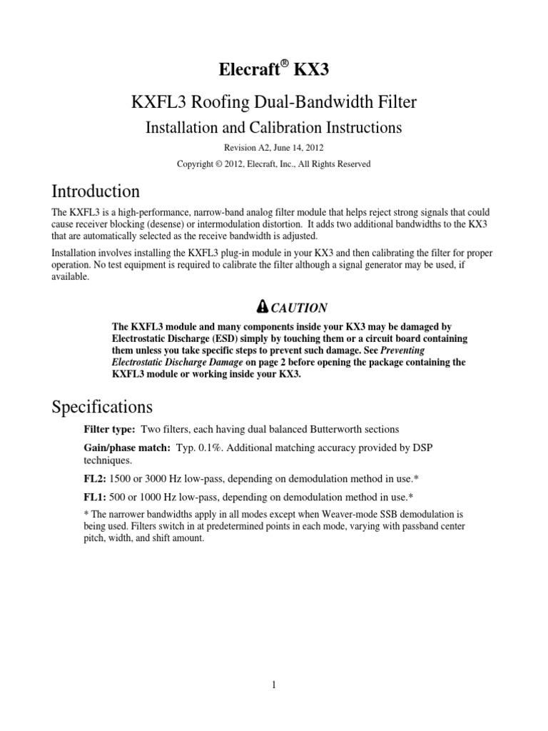 KXFL3 Option Rev A2   Electrostatic Discharge   Radio