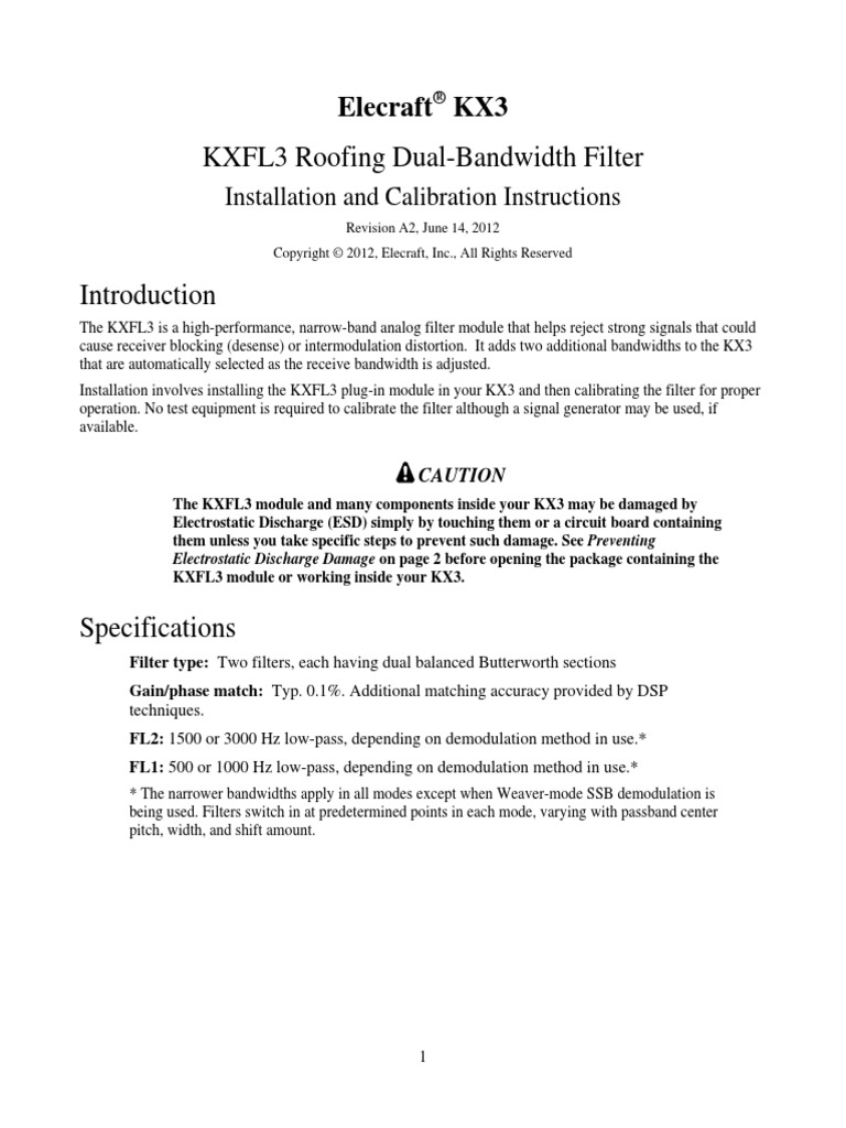 KXFL3 Option Rev A2 | Electrostatic Discharge | Radio