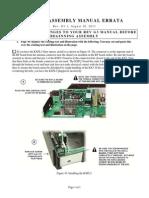 E740164E KX3 Kit Assembly Manual Errata G3-1