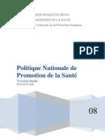 Politique Promotion Sante Benin