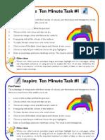 Ten Minute Tasks