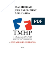Consumer Related Services ECI RFP Texas Medicaid Provider Enrollment Application 2008 FY2010 (1)