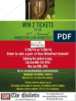 2014 Winefest Phone-In Sweepstakes (Official Rules)