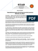 PressRelease-2014-Sabah BN UMNO Leaders Should Stand Up and Be Counted on Bible Raid-03 Jan 2014