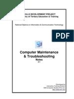 Computer Maintenance & Troubleshooting