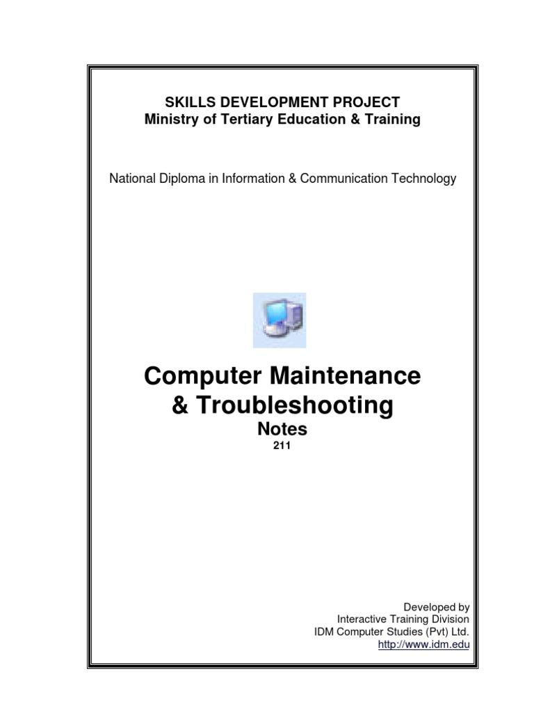 Computer Maintenance & Troubleshooting | Cpu Cache | Computer Data Storage