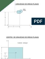 Centro de Gravedad de Areas Planas
