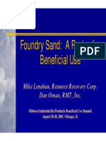 Beneficial Reuse Foundry Sand