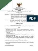 Peraturan Menteri Agraria/Kepala Badan Pertanahan Nasional Nomor 14 Tahun 1961 Tentang Permintaan Dan Pemberian Izin Pemindahan Hak Atas Tanah