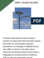 Aplicaciones Celdas Solares
