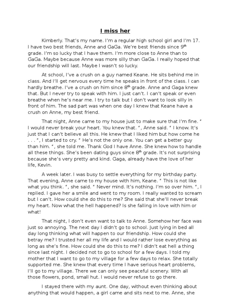 essay about my girlfriend