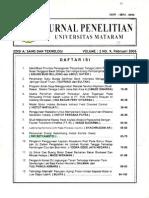 Penurunan Energi Gelombang Akibat Kondisi Dasar. Oki S. Jurnal Penelitian UNRAM Vol 2 no 9 fab 2006 ISSN 0854-0098