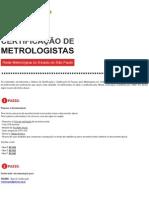 Certificação de Metrologistas - Abendi_Remesp