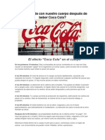 Qué sucede con nuestro cuerpo después de beber Coca Cola