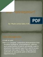 Pain Management -03-07 Version