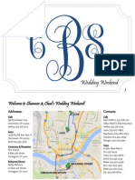 Burnett Wedding Itinerary