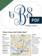 Burnett Wedding Itinerary
