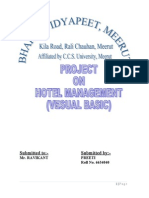 SRS Hotel Management System | Graphical User Interfaces