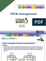 Cplb Management