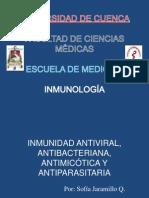 Inmunidad Antiviral, Antibacteriana, Antimicótica y Antiparasitaria