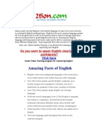 Amazing Facts of English