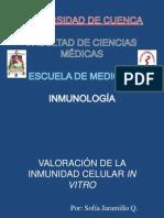 Valoración de la Inmunidad Celular in vitro