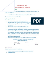 Quantity of Water (Water Supply Engineering)