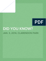 Did You Know? Slides from a Public Forum held Jan. 3, 2014, Clarendon Park, Chicago