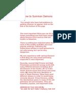 the art of summoning demons | Satanism | Demons