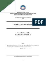 SPB Maths Answer PMR 2009