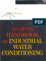 Betz Handbook of Industrial Water Conditioning