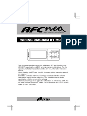 [DIAGRAM_38IS]  Apexi Integration Installation Manual: AFC nea color display Wiring Diagram  | Cars Of Japan | Technology | Apexi Safc Wiring Diagram 2jz Ge |  | Scribd