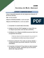 PRÁCTICA 1 DHCP maquinas virtuales y configuración dhcp