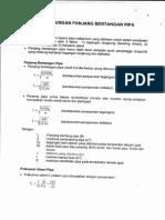 Perhitungan Panjang Bentangan Pipa
