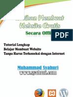 Latihan Membuat Website Gratis Secara Offline - Syahuri Dot Com