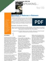 Islamically Speaking Newsletter VOL.3