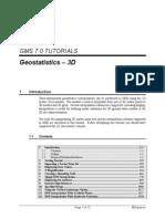 Geostatistics-3D