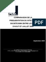 Tableaux de bord pour la période de Aout 2009