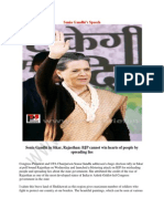 Sonia Gandhi campaigns for assembly polls