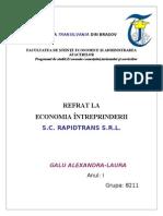 Referat Economia Intreprinderii