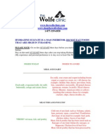 Hydrazine Sulfate Diet Handout