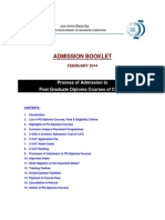 AdmissionBooklet CDAC PG DiplomaCourses Feb14