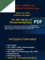 ISO 26000 (7) Wirksamkeitsanalyse 2009-06n