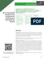 Conocimientos y actitudes acerca de la investigación científica en los estudiantes de medicina de la Universidad de Panamá