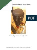 Zero Fossil Fuel Rocket Stove Heater