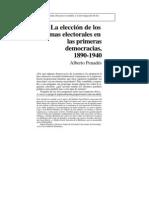 L5 - La elección de los sistemas electorales en las primeras democracias, 1890-1940 - Alberto Penadés