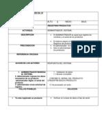 18 Registrar Productos