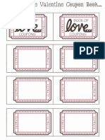 Blank Valentine Coupon Book