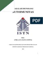 Makalah Autoimunitas Atika Jaya Rani (13330716)